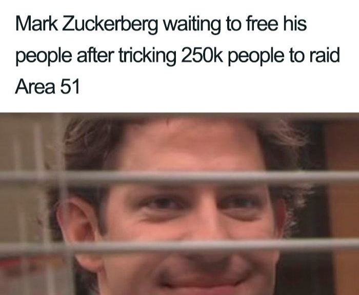 mark zuckerberg tricking area 51 memes