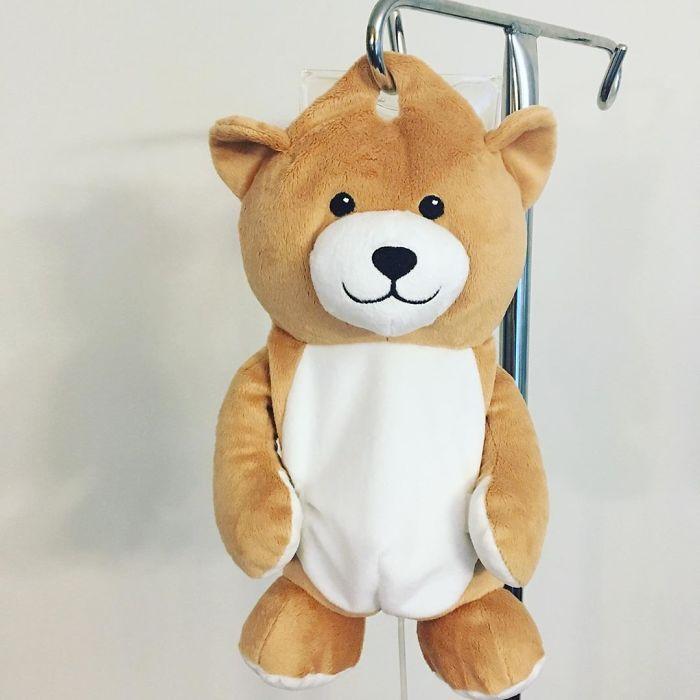 medi teddy hides iv bags