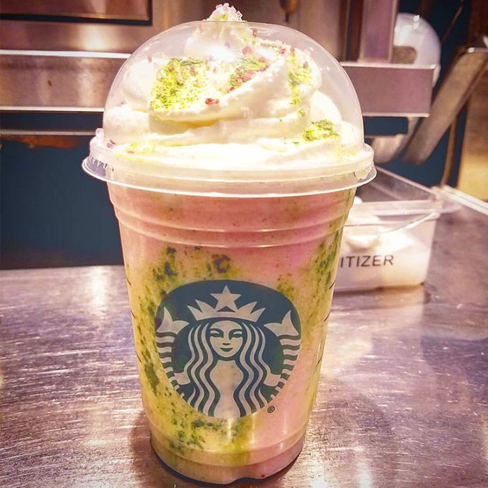 mind-blowing starbucks frappuccino flavors cherry blossom
