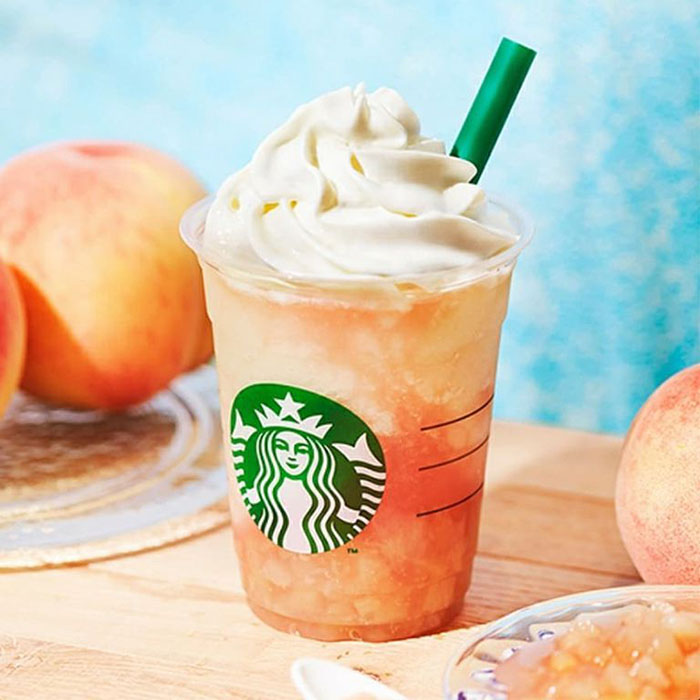 mind-blowing starbucks frappuccino flavors peach on the beach