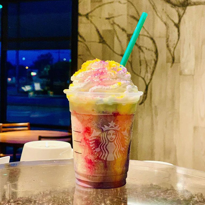 mind-blowing starbucks frappuccino flavors tie dye