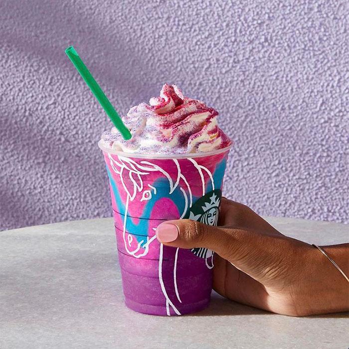 mind-blowing starbucks frappuccino flavors unicorn