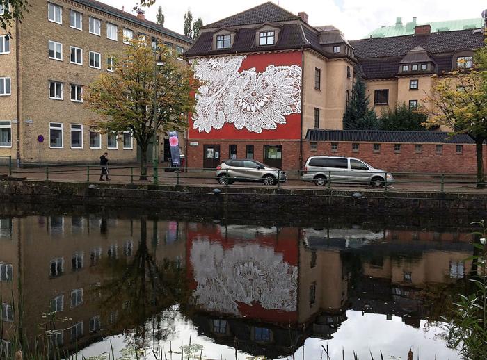 nespoon lacework murals boras sweden