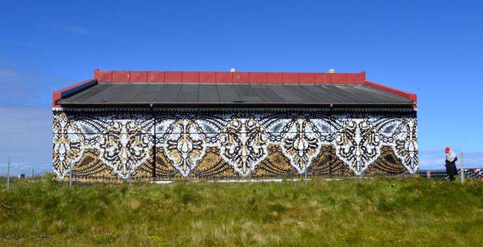 nespoon lacework murals lofoten norway