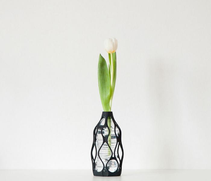 nice flower 3d vases recycling plastic bottles libero rutilo