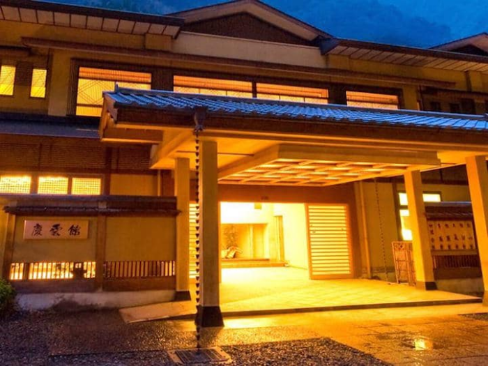 night view nishiyama onsen keiunkan oldest hotel world record 1300 years