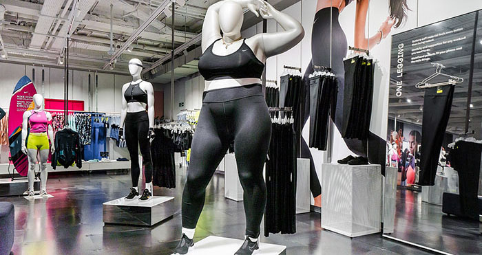 obese Mannequin nike