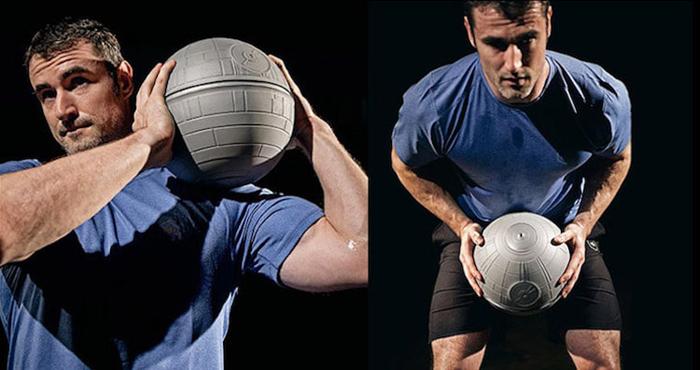onnit star wars-themed fitness equipment death star slam ball