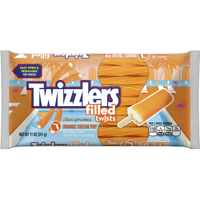 orange cream pop filled twizzlers hersheys