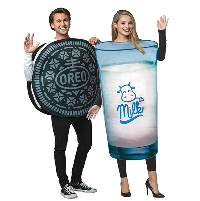oreo and milk costumes