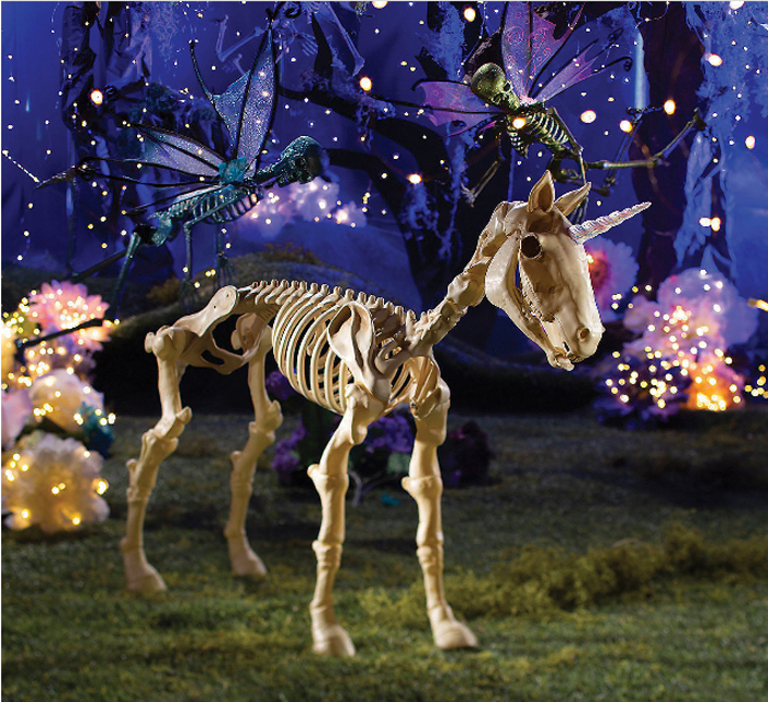 oriental trading halloween unicorn skeleton