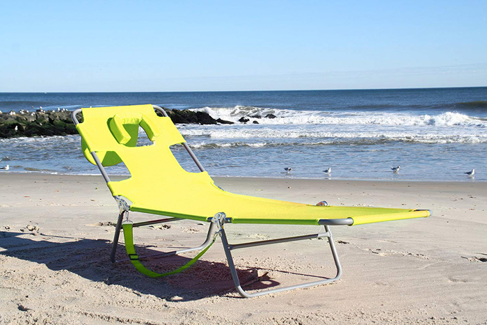 ostrich lounge chaise beach chair green