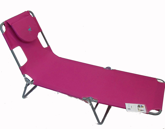 ostrich lounge chaise pink