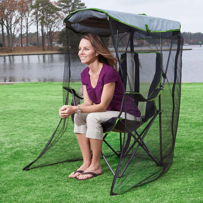 outdoor foldable chair with canopy