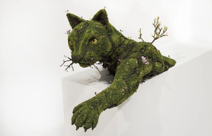 panther emeric chantier plant sculptures