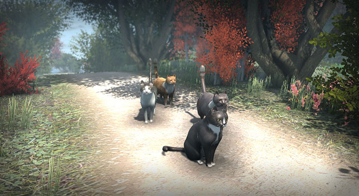 peace island open world game group of cats
