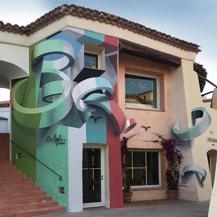 peeta costa smeralda sardegna italy building graffiti