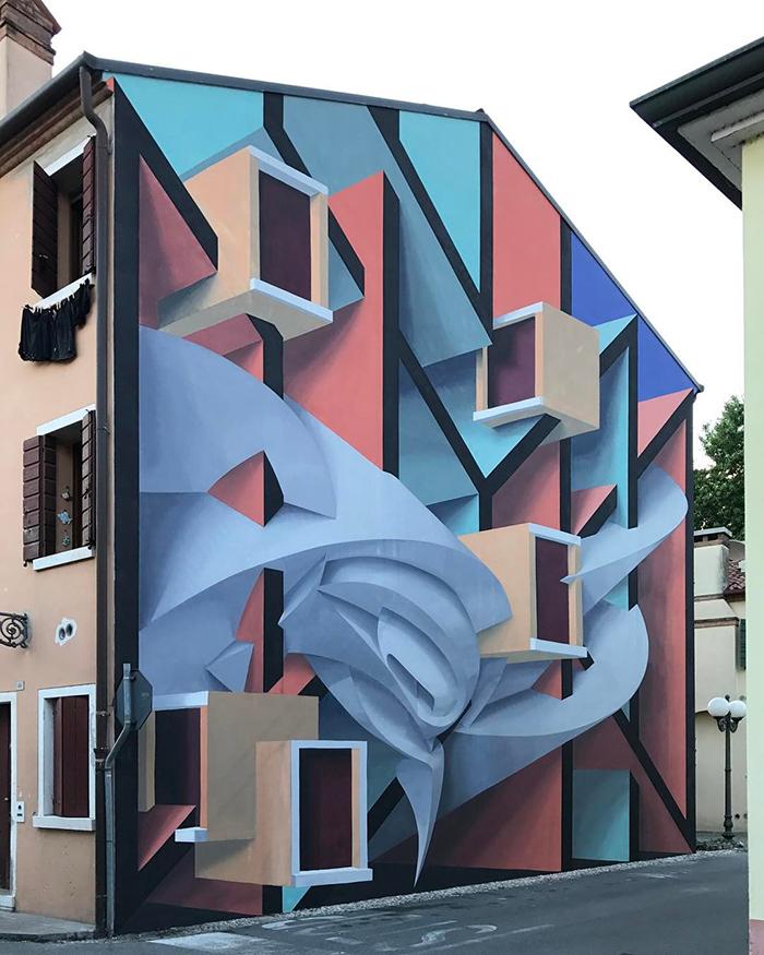 peeta dolo venice italy building graffiti