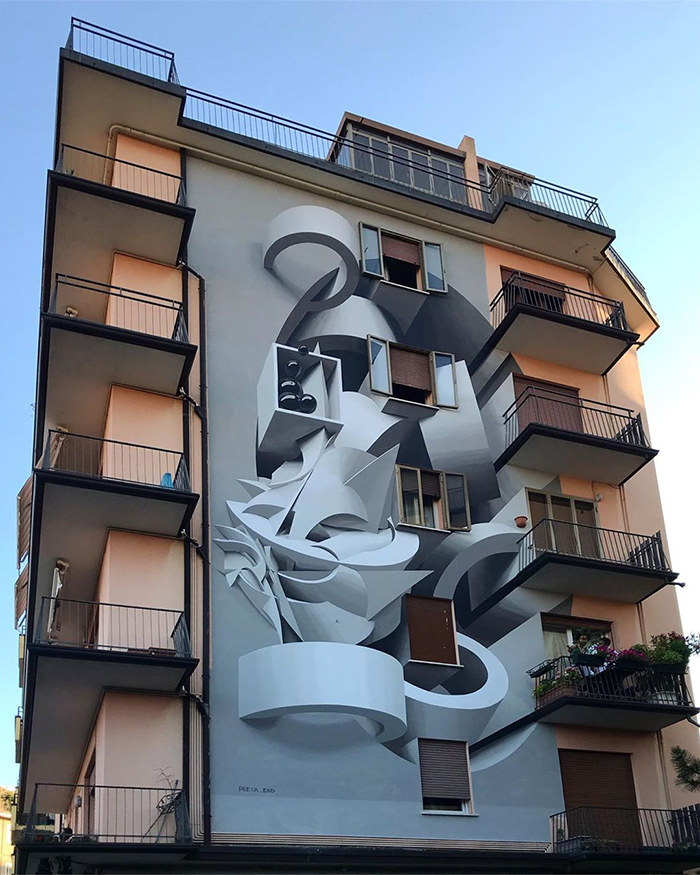 peeta padova italy building graffiti