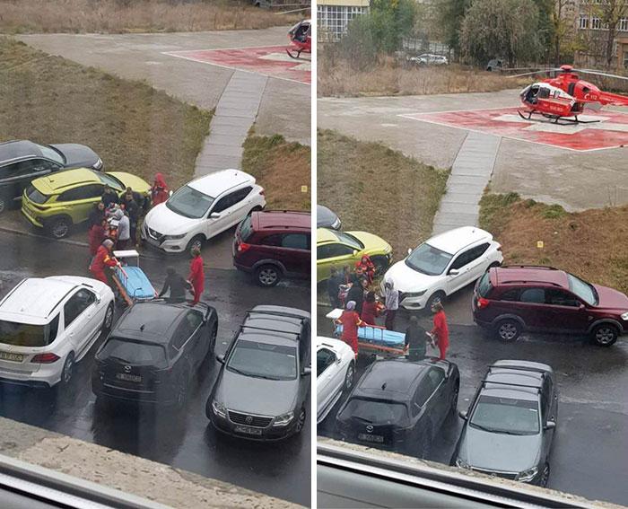 people being jerks parking blocking way