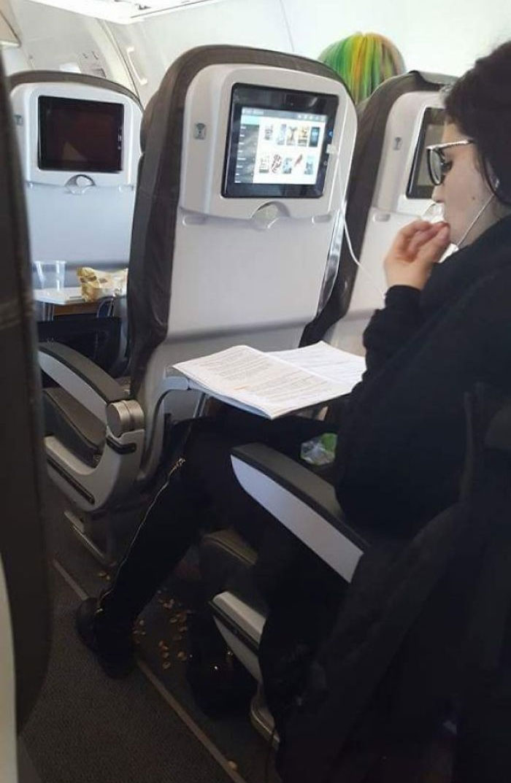 people being jerks pistachio shells airplane floor