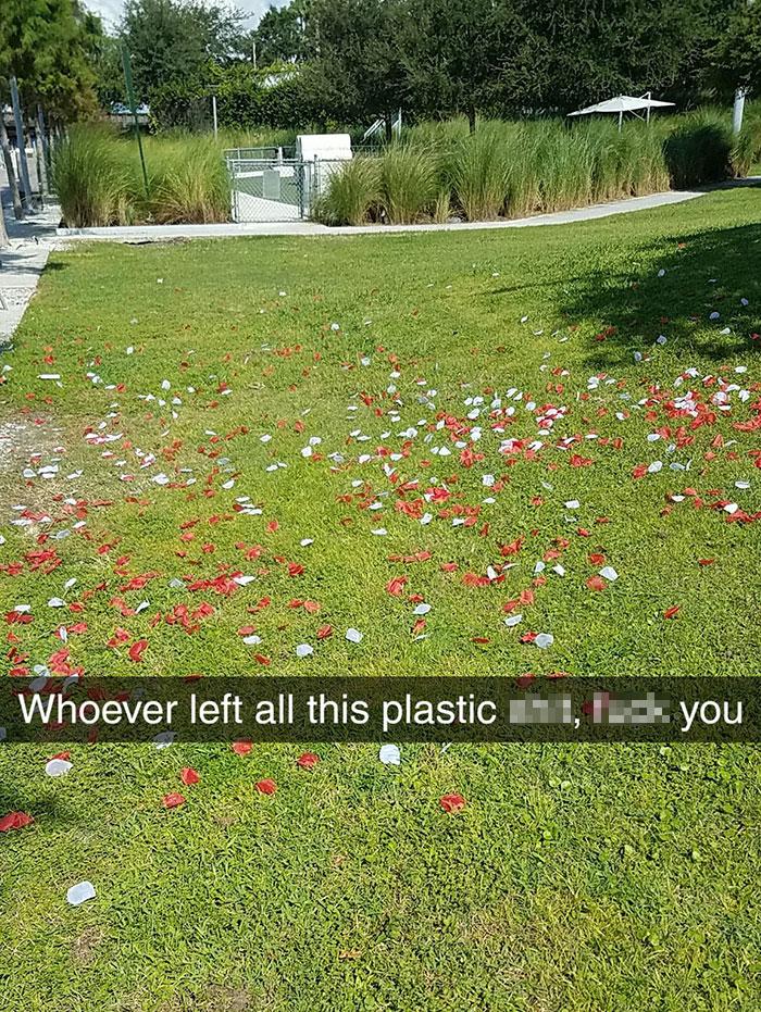 people being jerks plastic petals