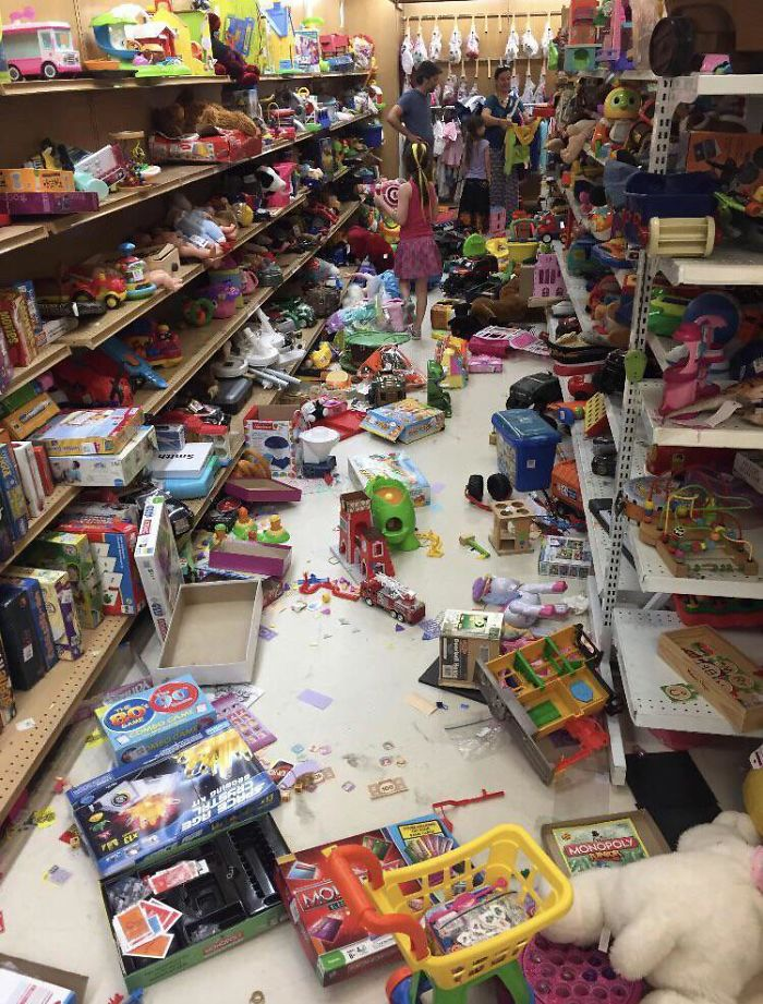 people being jerks rummaged toy store