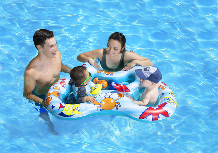 poolmaster dual baby pool float rider