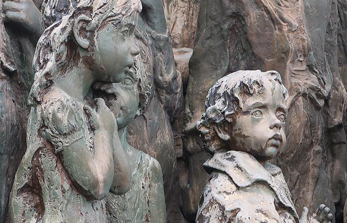 poor children sculptures in lidice village czechoslovakia czech republic