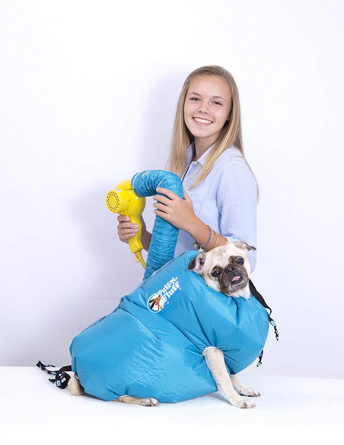 puff-n-fluff dog dryer jacket