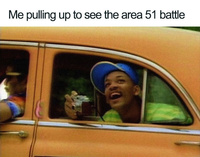 pulling up to see the battle area 51 memes