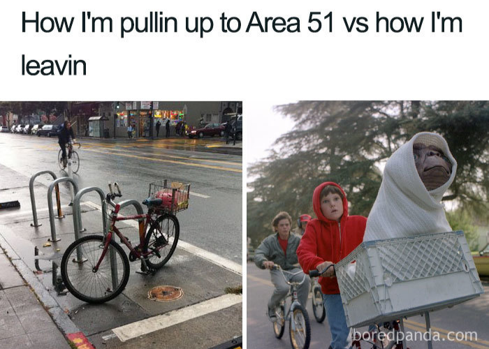 pulling up vs leaving area 51 memes
