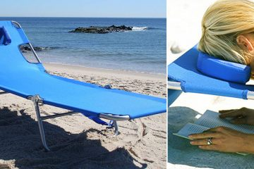 reading lounger with hole