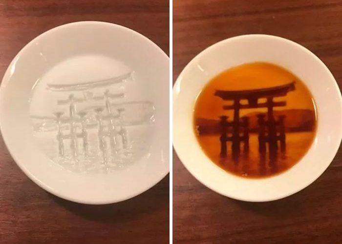 redestu porcelain dish itsukushima shrine