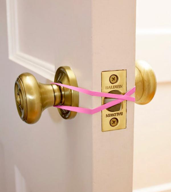 rubber band lock prevention parenting hacks tricks tips