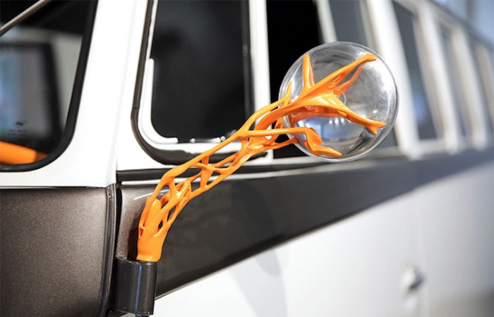 sideview mirror volkswagen type 20 electric vehicle