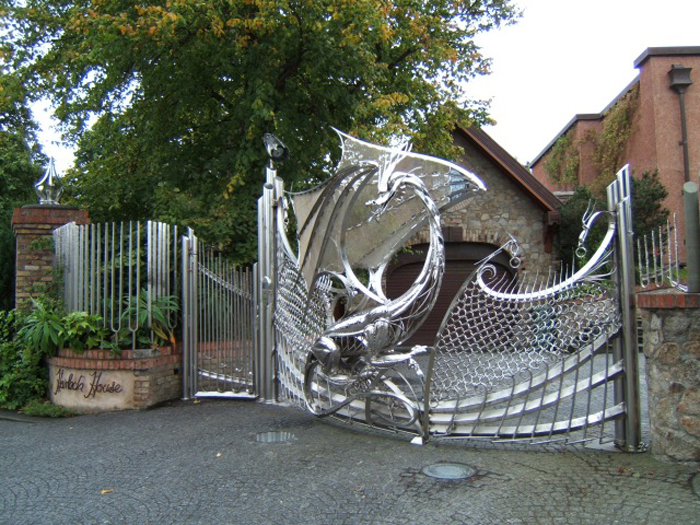 silver mythical dragon gate dublin ireland