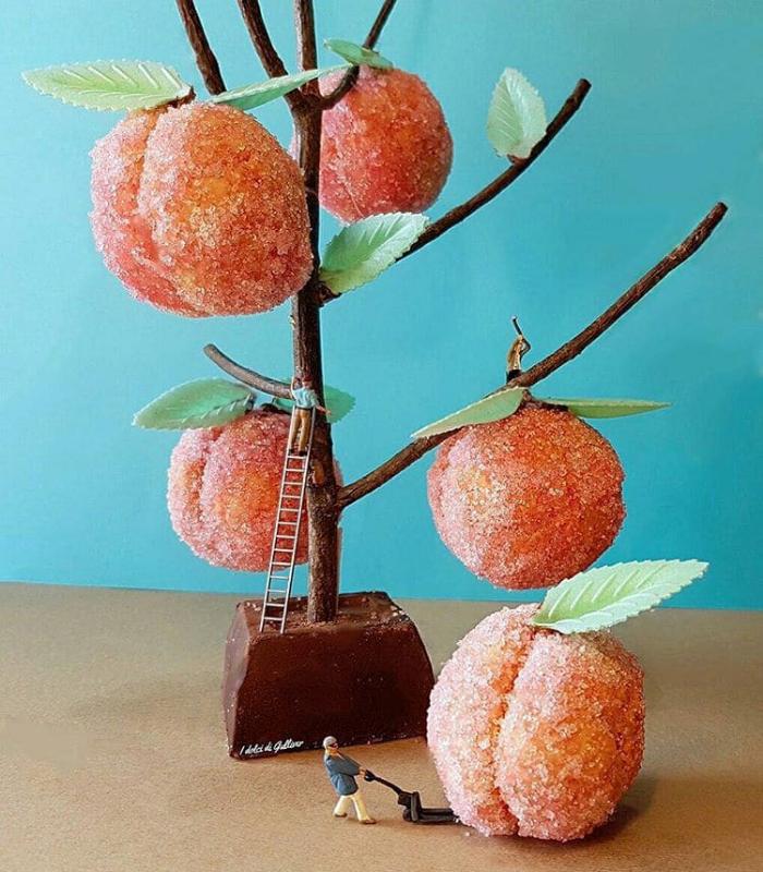 sweets tree matteo stucchi dessert scenes