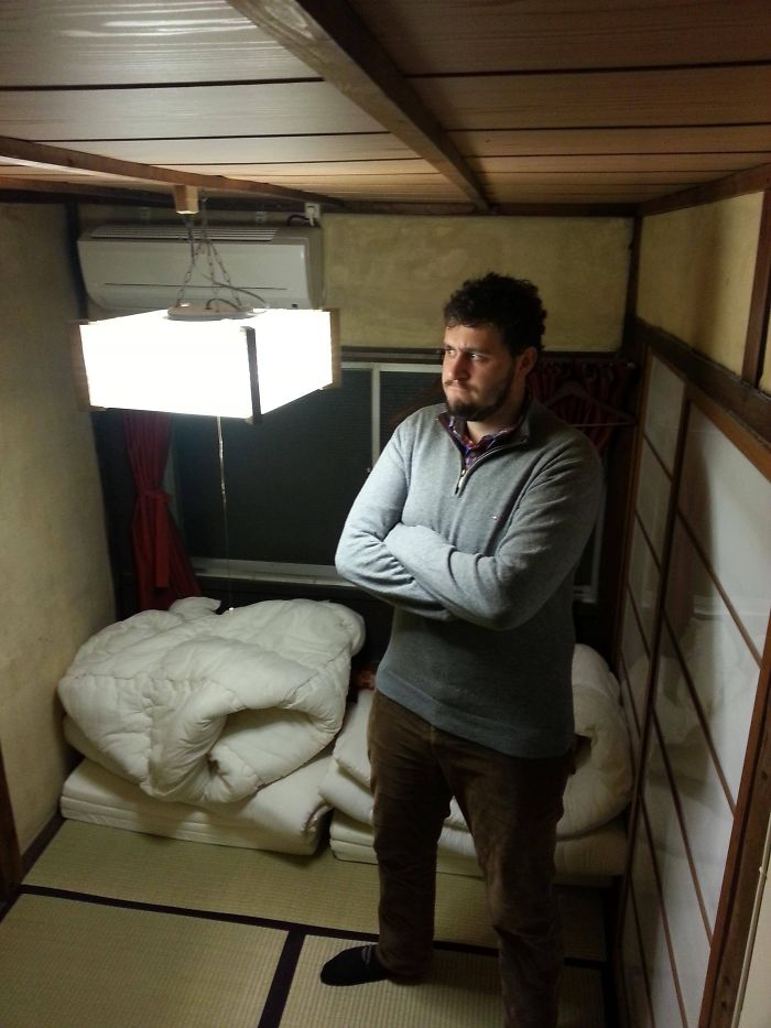 tall people problems japan hostel light