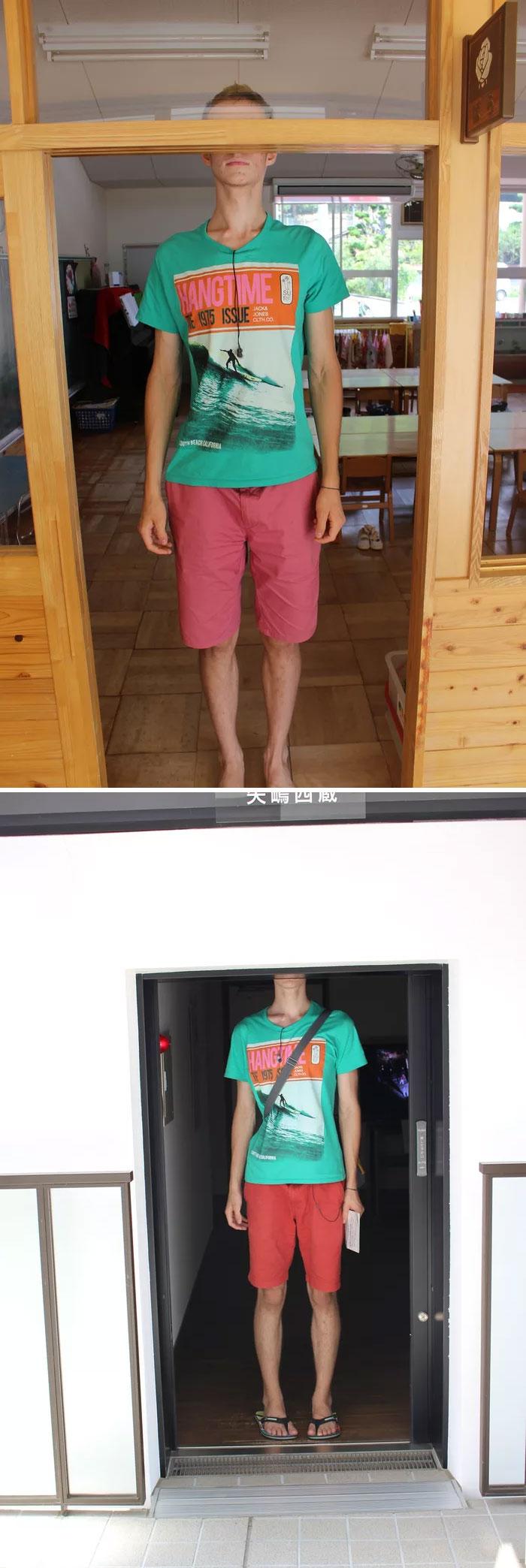 tall people problems japan low doorway