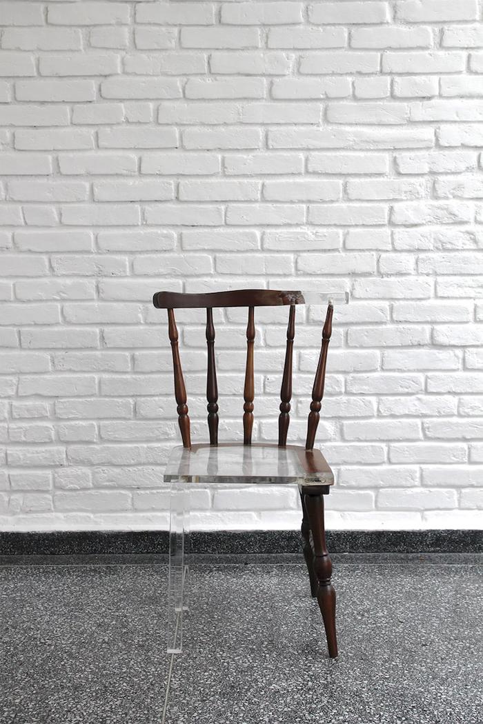 tatiane freitas my new old chair acrylic resin material