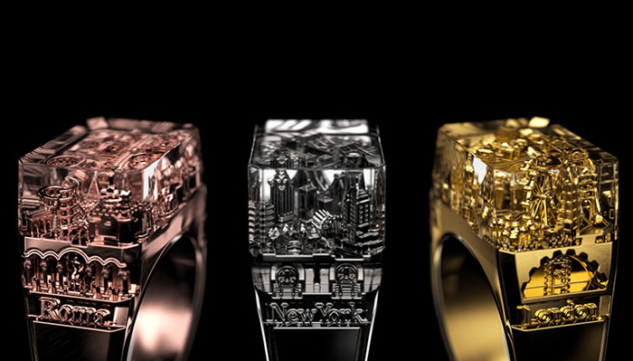 teti rome new york london rings