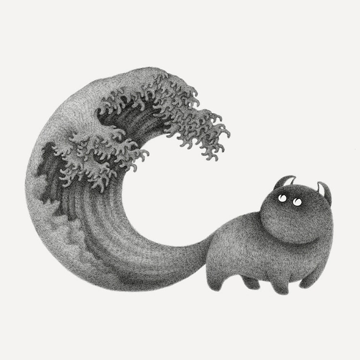 the furry thing kamwei fong the great wave tail