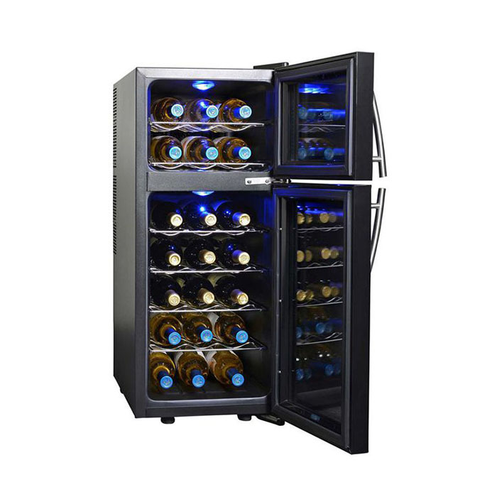 thermoelectic dual zone cooler perfect wine gifts