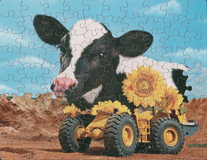 tim klein montage puzzle art how the west was won