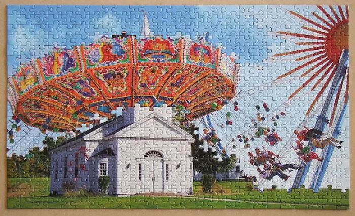tim klein montage puzzle art mercy go round