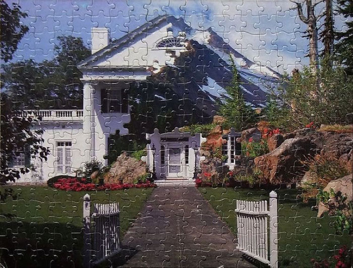 tim klein montage puzzle art mountain plantation