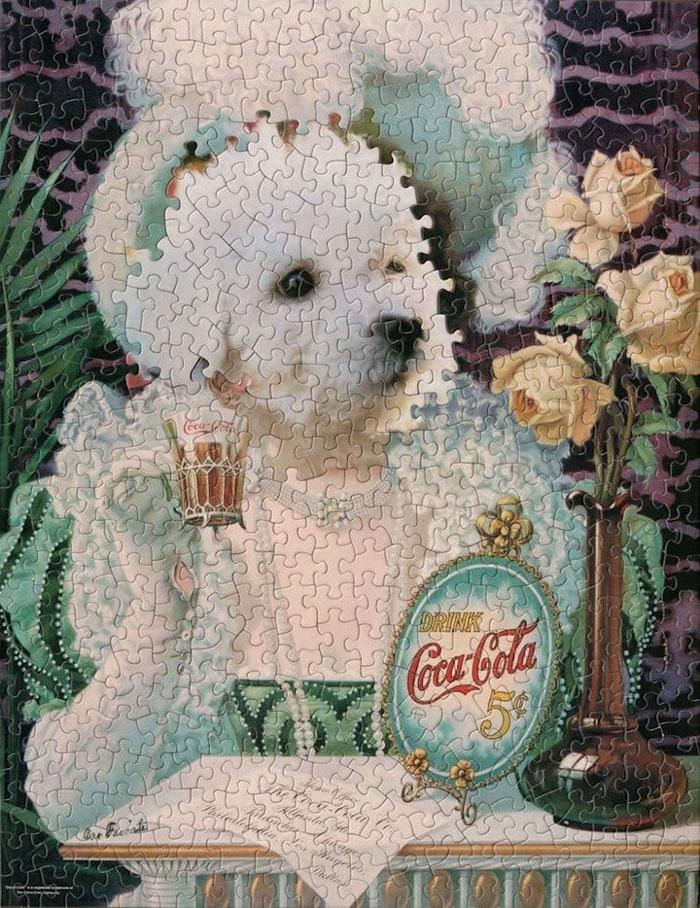 tim klein montage puzzle art soda pup