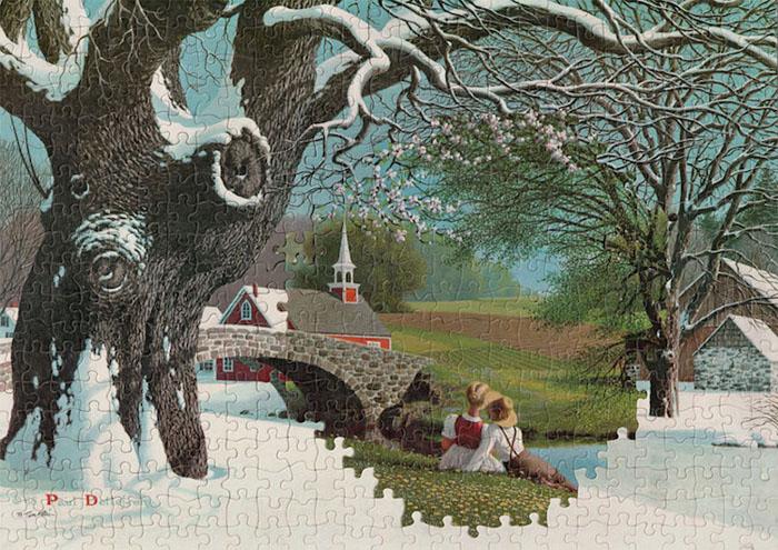 tim klein montage puzzle art thaw