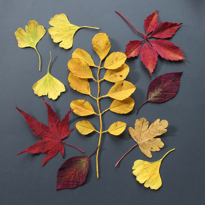 tina kraus crepe paper objects paper foliage